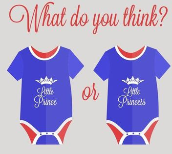 Blue Red Simplistic Royal Baby Wear - Free vector #171639