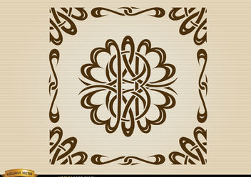 Curved lines ornamental borders - vector gratuit #171649
