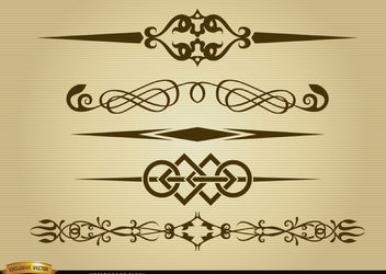 Elegant division lines pack - Free vector #171659