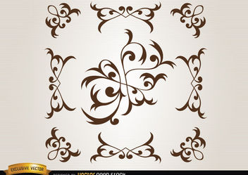 Floral decorative elements - vector #171679 gratis