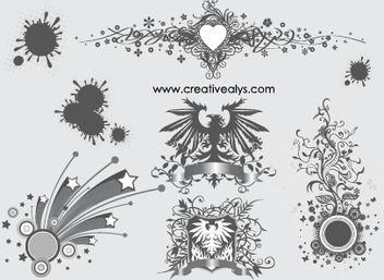 Creative Ornament and Design Elements - Free vector #171729