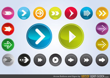 Arrows Vector Art - Kostenloses vector #171749