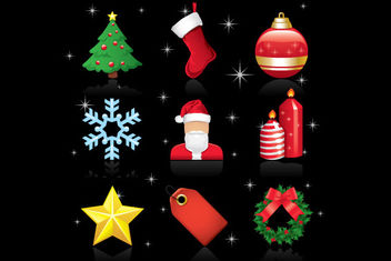 Glossy Christmas Ornament Icon Pack - Kostenloses vector #171789