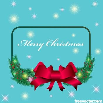 Wishes Frame with Xmas Badge & Tree - Free vector #171809