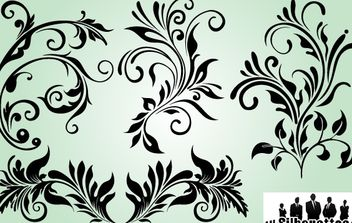 Decorative Ornaments with Outline Variation - Free vector #171869