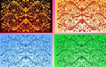 Curved Flourish Design - Free vector #171909