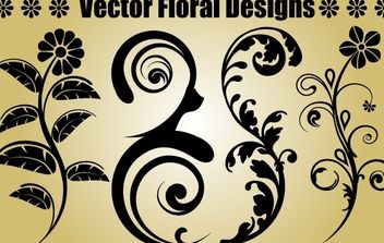 Four Floral Objects - vector gratuit #171919
