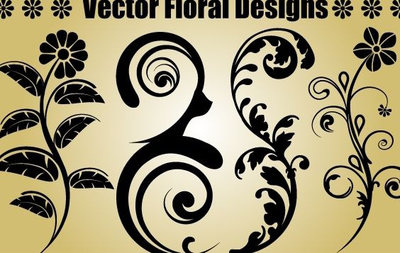 Four Floral Objects - Free vector #171919