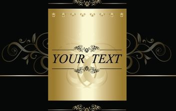 Ornamental Template Greetings Layout - Free vector #171989