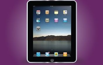 Apple Black iPad Frame - vector gratuit #172009