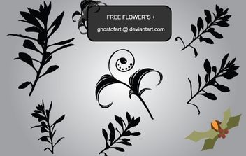 Floral Ornament Shape - Free vector #172139