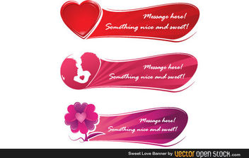 Sweet Love Banner - Free vector #172259