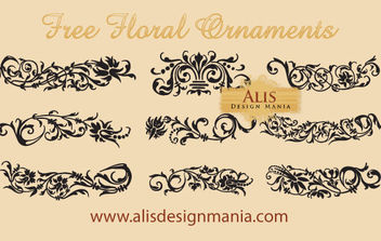 Free Floral Ornaments - Free vector #172269