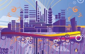 Abstract City Graphics - vector #172359 gratis