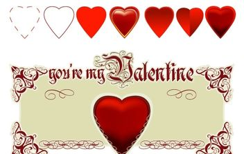 Happy Valentine's Day! - vector gratuit #172409