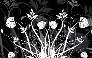 Flowers and Black and white - vector gratuit #172419