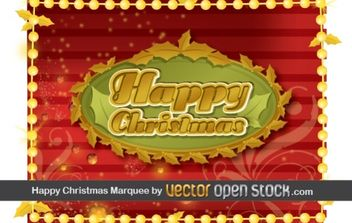 Happy Christmas Frame - Free vector #172499