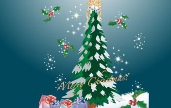 Merry Christmas - vector gratuit #172519