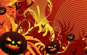 Halloween Party Card Vector - Free vector #172579