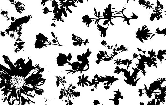 Floral Silhouette Vector Pack - Free vector #172609