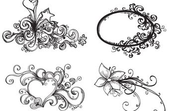 Free Hand Drawn Vector Ornaments - бесплатный vector #172639