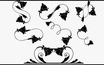 Floral Ornaments striped background - vector gratuit #172669