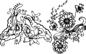 Hand Drawn Decorative Elements - Free vector #172699