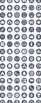 Elegant Business Icon Circle Pack - vector gratuit #172879