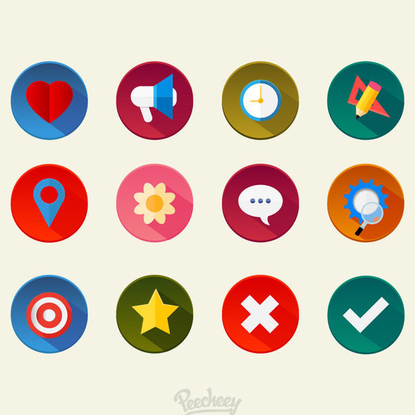 Colorful Minimal Miscellaneous Icon Set - Free vector #172919