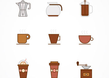 Minimal Coffee Icons Pack - Free vector #172969