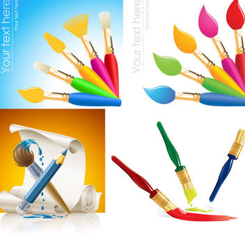 Brush Paint & Painting Pack - vector #173059 gratis
