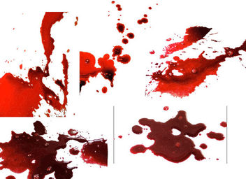 Realistic Blood Splatter Pack - Kostenloses vector #173099