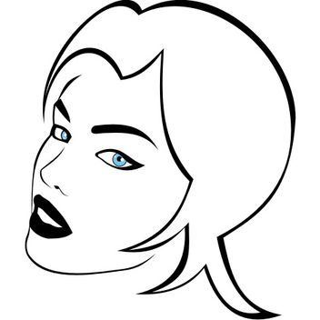 Woman's Beauty with Blue Eyes - Free vector #173159