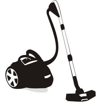 Silhouette Black & White Vacuum Cleaner - Free vector #173179