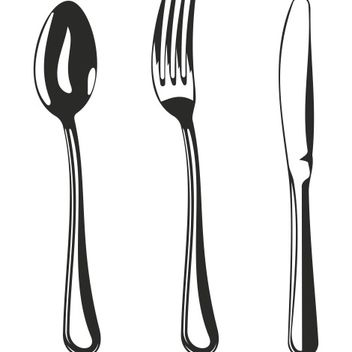 Black & White Kitchen Tool Set Sketch - vector gratuit #173199