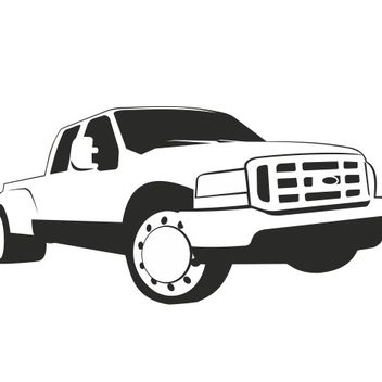 Ford Pickup Truck Sketch - vector gratuit #173309