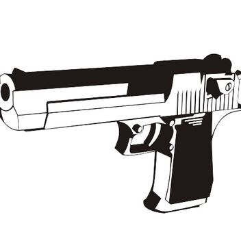Black & White Desert Eagle Handgun - vector gratuit #173329
