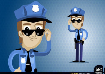 Policeman Cartoon Character - Free vector #173449