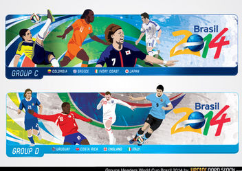 Brazil 2014 World Cup Headers - бесплатный vector #173459