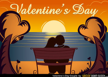 Valentine's Day Couple - vector gratuit #173489