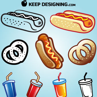 Funky Tasty Summer Foods - Free vector #173639