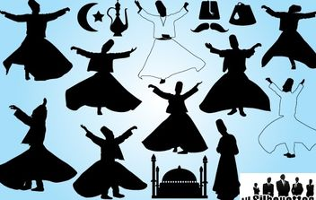 Turkey Dancer Pack Silhouette - vector gratuit #173709