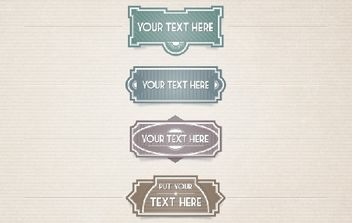 4 Template Vintage Labels - vector #173719 gratis