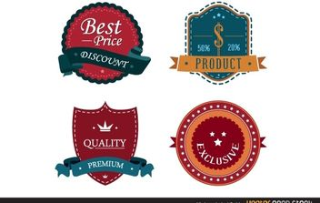 Vintage Label Set - бесплатный vector #173749