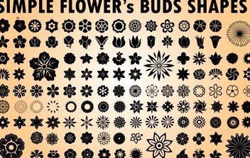 Flower Bud Pack Clipart - Free vector #173759