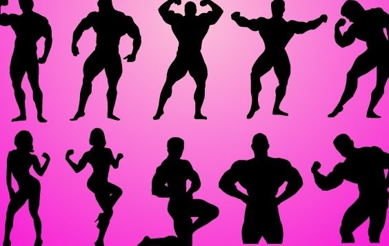 Body Builder Pack Silhouette - Free vector #173879