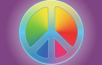Rainbow Peace Symbol - Free vector #173909