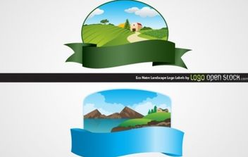 Eco Nature Lanscape - Free vector #173919