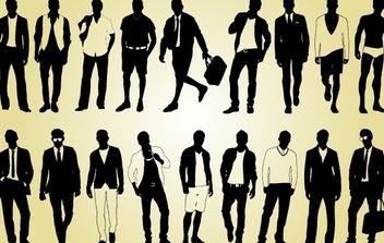 Male Model Pack Silhouette - vector gratuit #173929