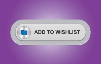 Gray Wish List Button - vector gratuit #174039